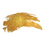 Gold color paint brush stroke