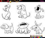 cartoon funny dog characters coloring book