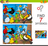 find differences with birds animal characters