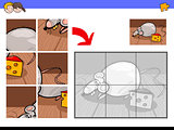 jigsaw puzzles with mouse or rat character