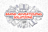 Brand Advertising Solutions - Business Concept.