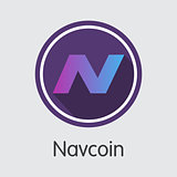Navcoin - Virtual Currency Trading Sign.