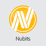 Nubits Virtual Currency Coin. Vector Element of NBT.