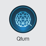 Qtum Crypto Currency. Vector QTUM Logo.