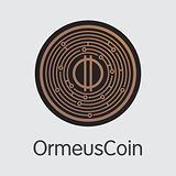 Ormeuscoin Cryptocurrency Coin. Vector Web Icon of ORME.