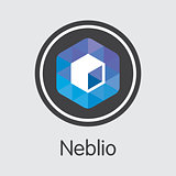 Neblio Crypto Currency - Vector Web Icon.