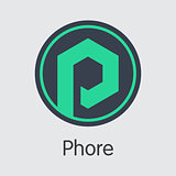Phore Blockchain Cryptocurrency - Vector Web Icon.