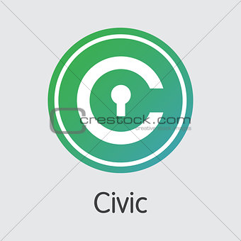 Civic - Digital Currency Sign Icon.
