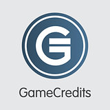 Gamecredits - Digital Currency Pictogram.
