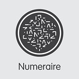 Numeraire - Cryptographic Currency Pictogram.