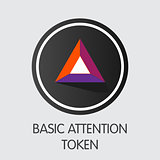 Basic Attention Token - Crypto Currency Coin Illustration.