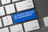 Blue Business Process Re-Engineering Key on Keyboard. 3d