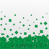 Clover leaf realistic white  background