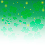 Clover leaf magic background