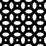 Seamless abstract art black white pattern
