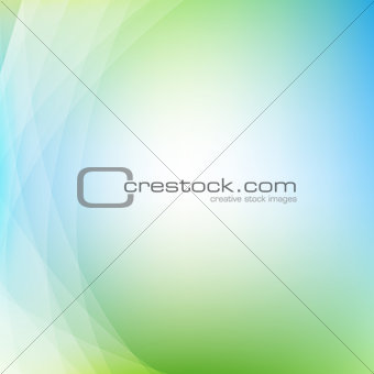 Green Background With Line