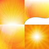 Orange Dynamic Backgrounds Set