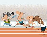 Running athletes and correspondent