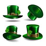 St Patricks day hats. Vector