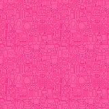 Cosmetics Line Seamless Pattern