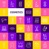 Vector Cosmetics Line Icons