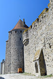 Carcassonne medieval walled city in France