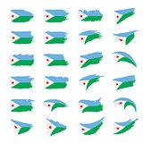 Djibouti flag, vector illustration