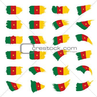 Cameroon flag, vector illustration