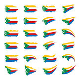 Comoros flag, vector illustration