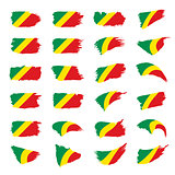 Congo flag, vector illustration