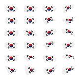 South Korean flag, vector illustration