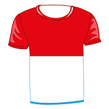 T-shirt with flag poland