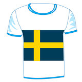 T-shirt flag sweden