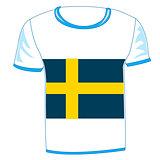 T-shirt flag sweden