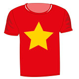 T-shirt flag vietnam