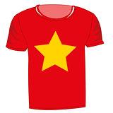 T-shirt flag vietnam