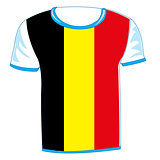T-shirt flag to belgium
