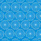Abstract pattern on turn blue background