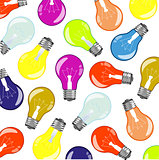Light bulbs colour pattern