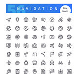 Navigation Line Icons Set