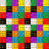 Colorful patchwork background with buttons