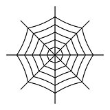Spiderweb icon isolated on white background