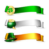 Patricks Day banners.