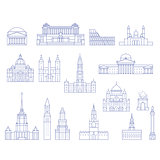 European architecture - buildings, cathedrals and monuments in l