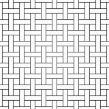 Seamless wicker pattern - vector geometric background