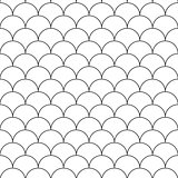 Seamless japanese pattern - vector simple background.