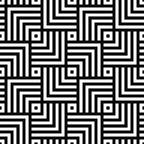 Geometric seamless vector creative pattern. Black and white squares background