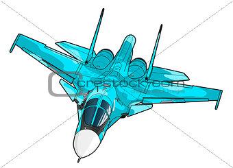 Modern Russian jet bomber aircraft.