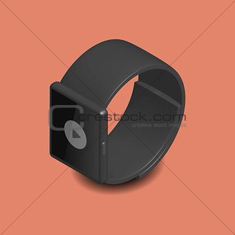 Smart watch in 3D, vector illustration.