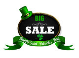 Sale poster for St. Patrick s Day. Vector